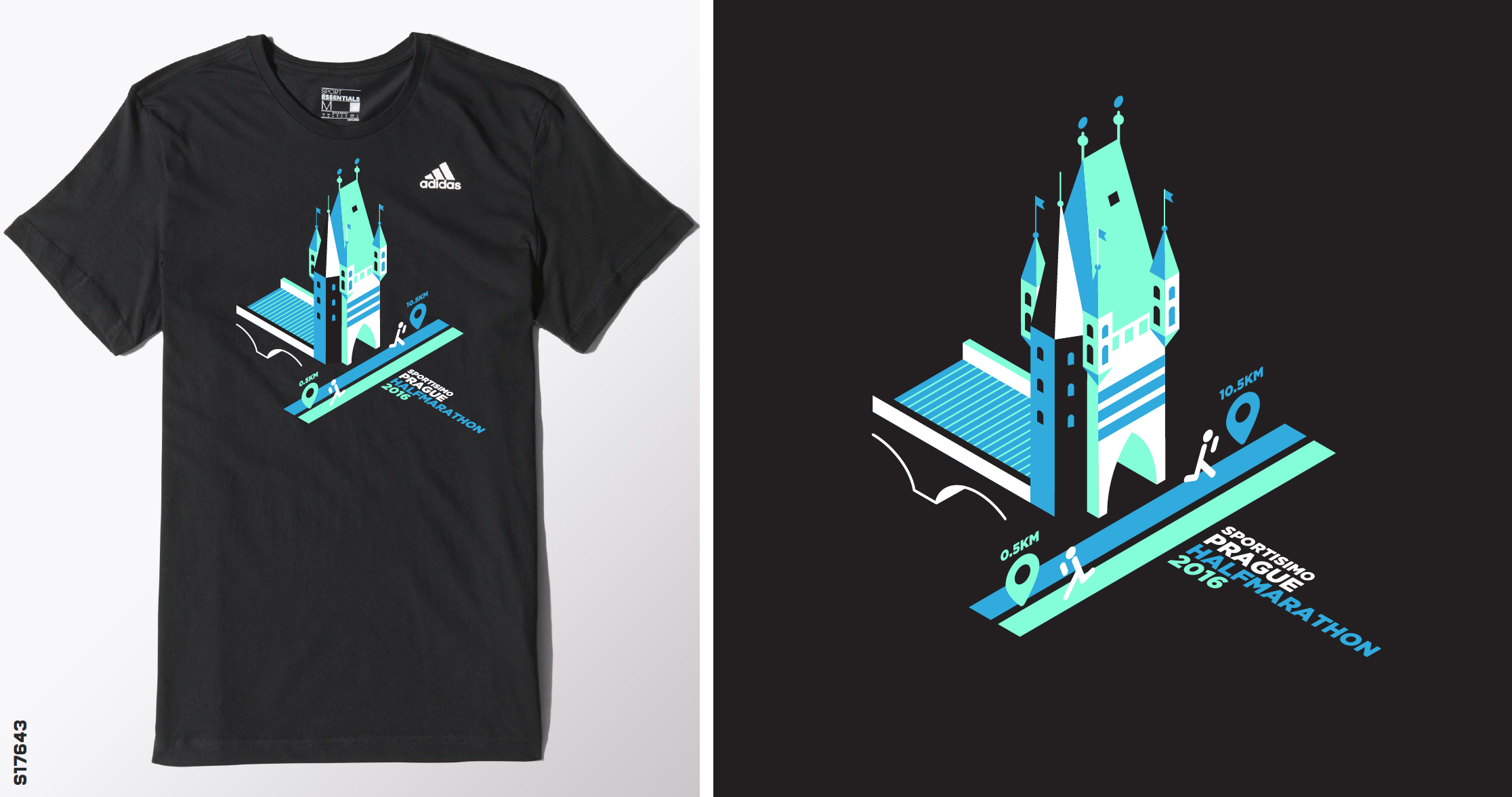 Design t shirt adidas - The Official Collection Of Adidas T Shirts For Sportisimo Prague Half Marathon